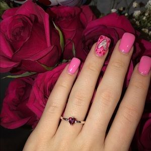 "Pandora jewelry "" Sparkling Red Heart Ring"""
